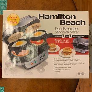 Hamilton Beach breakfast sandwich maker.